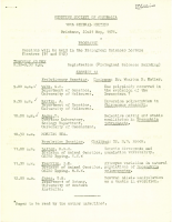 18th General Meeting Brisbane – 1971