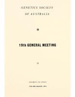 19th General Meeting Sydney – 1972