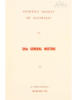 20th General Meeting Melbourne – 1973