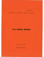 22nd General Meeting Adelaide – 1975