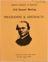 23rd General Meeting Sydney – 1976