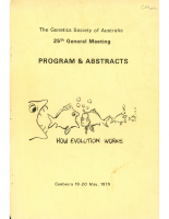 25th General Meeting Canberra – 1978