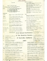31st Annual Conference Canberra – 1984