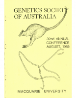 32nd Annual Conference Sydney – 1985