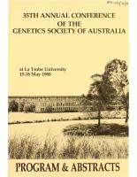35th Annual Conference Melbourne – 1988