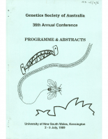 36th Annual Conference Sydney – 1989