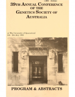 39th Annual Conference Brisbane – 1992