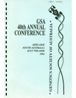 40th Annual Conference Adelaide – 1993