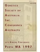 44th Annual Conference Perth – 1997