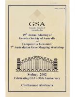 49th Annual Meeting Sydney – 2002