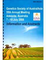 55th Annual Meeting Adelaide – 2008