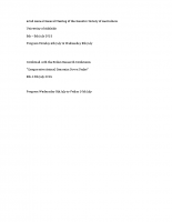 62nd General Meeting Adelaide – 2015 Program incl Boden Conf
