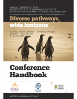 64th Annual Meeting Dunedin – 2017 Conference Handbook